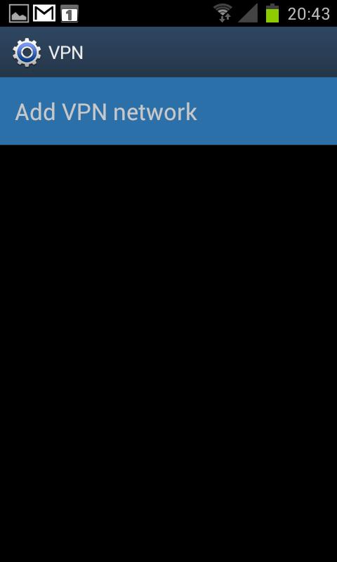 "Step 4 of 10: Tap ""Add VPN network"" in the VPN menu."