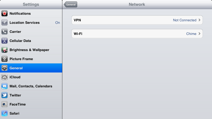 Step 3 of 9: Select VPN