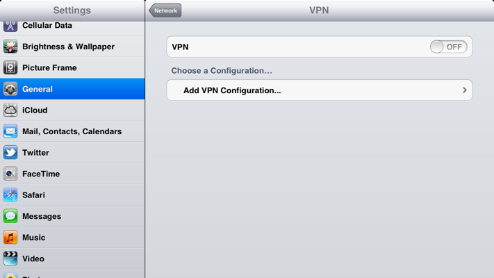 Step 4 of 9: Select 'Add VPN Configuration'