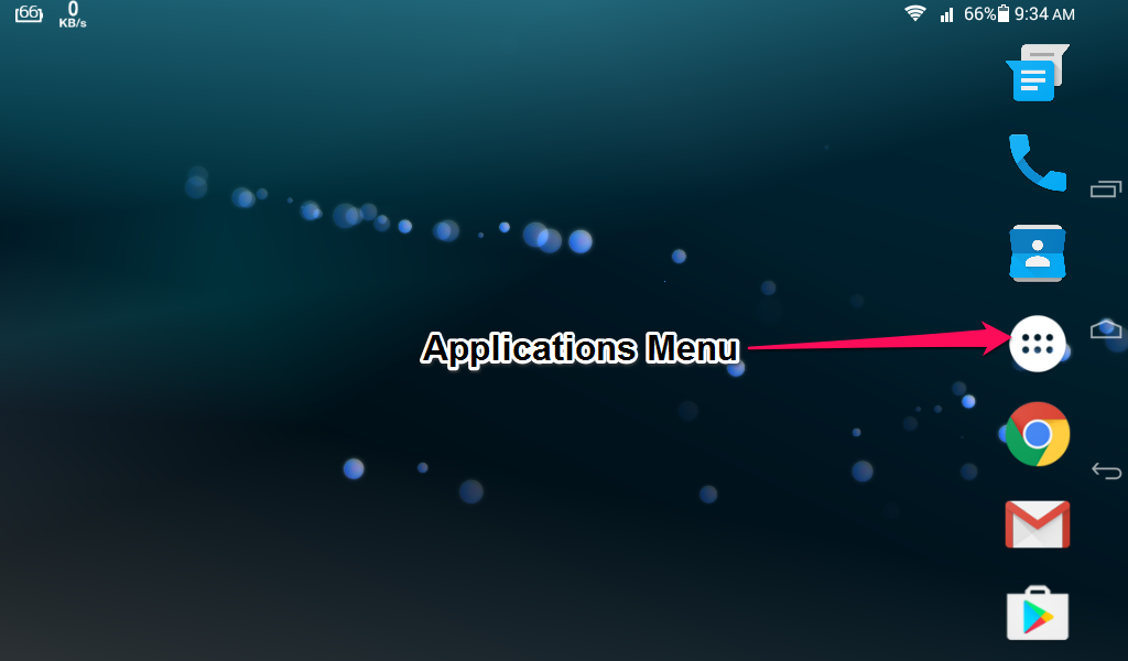 Android ApplicationMenu