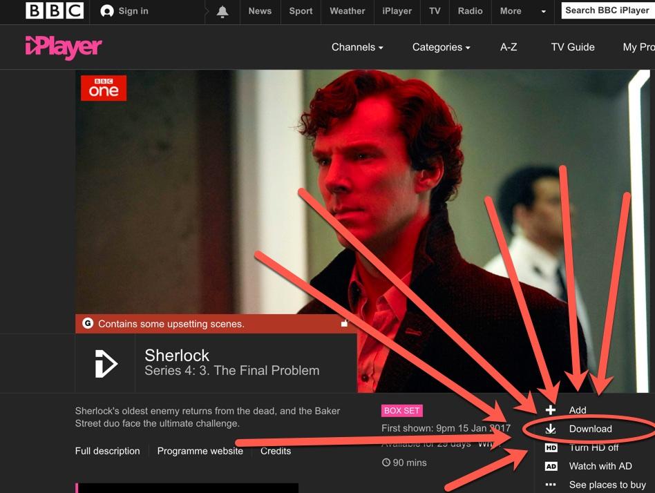 Bbc iplayer help how do i download programmes on bbc iplayer (pc.